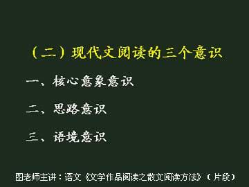 高中语文应试方法提高课程(二)