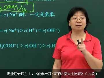 高中化学离子浓度大小比较专项突破课程